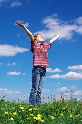 Kid praising